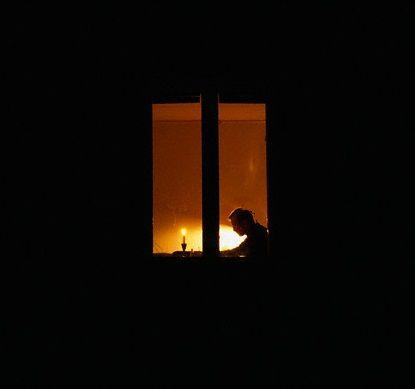 window light on